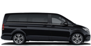 sideview of black minibus taxi